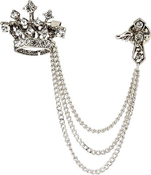 Amazon.com: Knighthood para hombre corona cadena de la borla ...