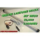 12V MAXX LED GREEN UNDERWATER SUBMERSIBLE NIGHT FISHING LIGHT crappie shad Walleye Shrimp