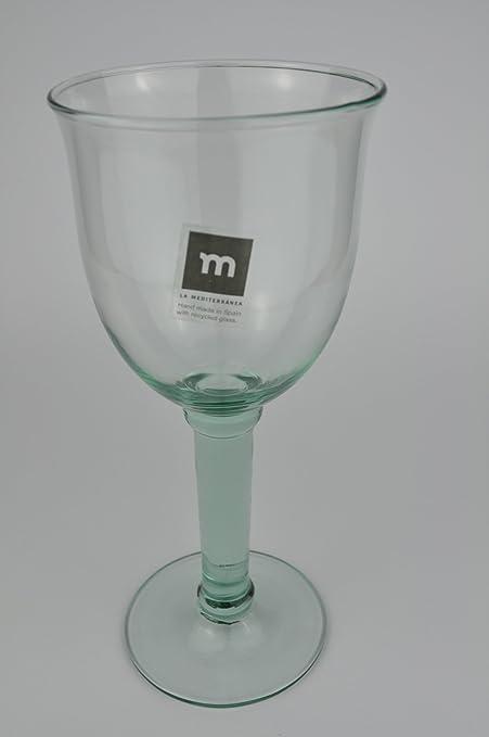 Copa de vino de copas CAMPANILLO de tamaño grande de cristal de colour de la bandera de España de reciclaje: Amazon.es: Hogar