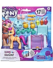 My Little Pony: A New Generation Sunny Starscout Movie Magic Playset 3 Inch Orange Pony Figure with 17 Accessories, Toy for Kids 3 and Up, multicolour, F24495L0