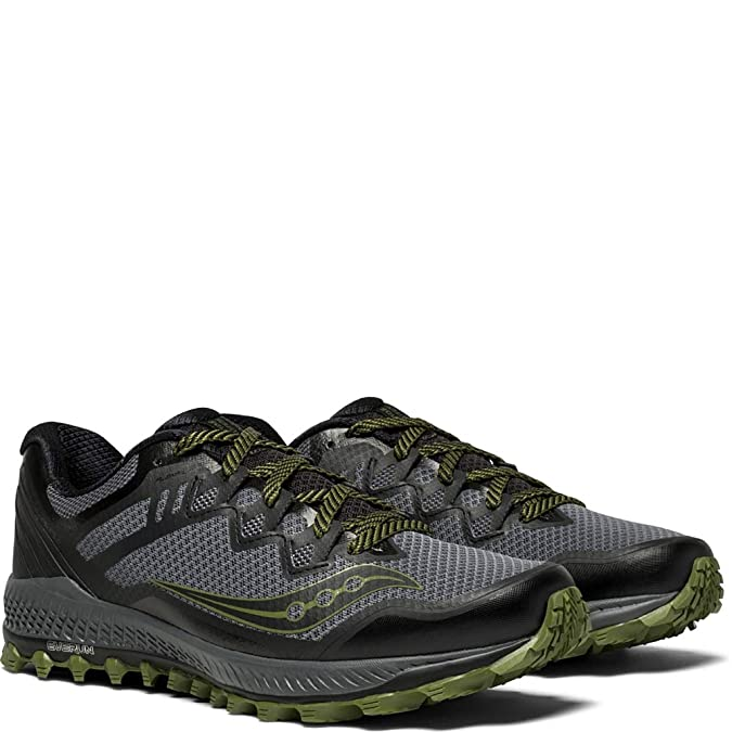 Mens Saucony Peregrine 8 Trail Running Sneaker Size 9 M BlackRed