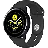 "for Samsung Galaxy Gear Watch Active 2/ Active/Gear 42mm Fitness Wristband Bracelet Tracker Silicone Water Resistant Wrist Band (Small (5.5"" to 7.1""), Black)"