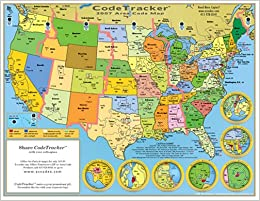 2007 CodeTracker Area Code Map: Area Codes for the US ...
