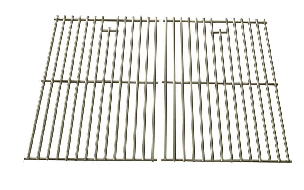 Stainless Steel Cooking Grates for Jenn Air 720-0336, 720-0163, 730-0163, 720-0433, Perfect Glo, Permasteel and Uberhaus Gas Grill Models, Set of 2 by bbqGrillParts