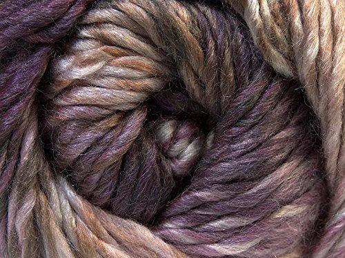 ((1) 100 Gram Bozcaada Island Donna - 70% Wool Color Twist Yarn Heavy Worsted Turquoise Grape Mauve Taupe Cream)