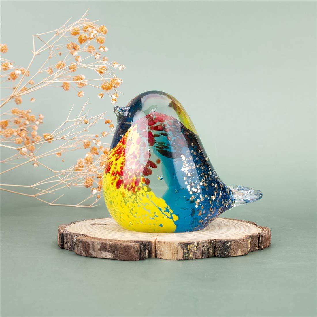 dise/ño de animales Figura de p/ájaro de cristal hecha a mano BONAKULA