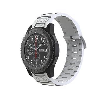 Correa de reloj para Samsung Gear S3 frontera/Classic, vneirw hombre mujer reloj de silicona deportes ...