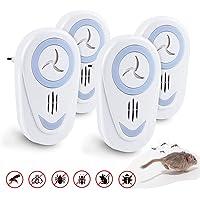 FEALING Repelente Ultrasonico,4 Pack Repelente Mosquitos Ultrasonido,Repelente