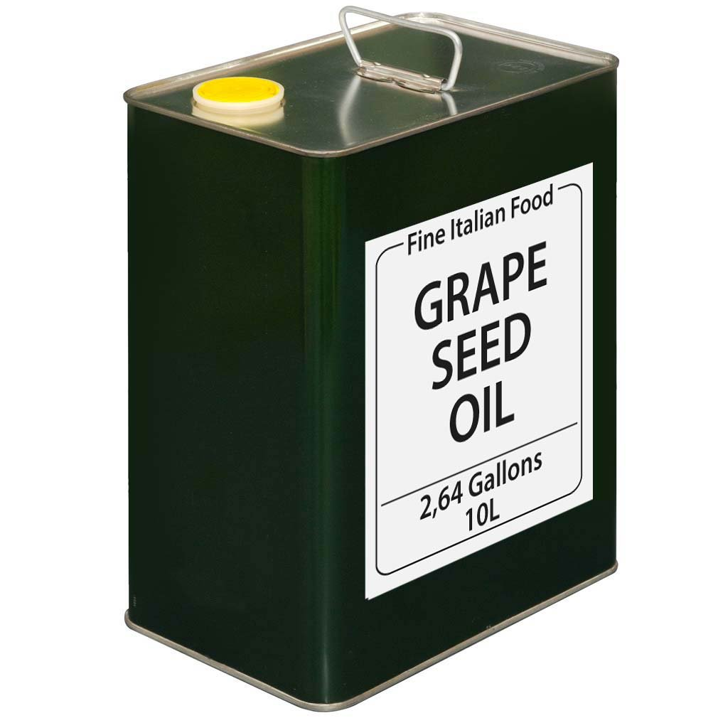 Grapeseed Oil - 10 Liter - Authentic Imported from Italy Grape Seed Oil by Fine Italian Food
