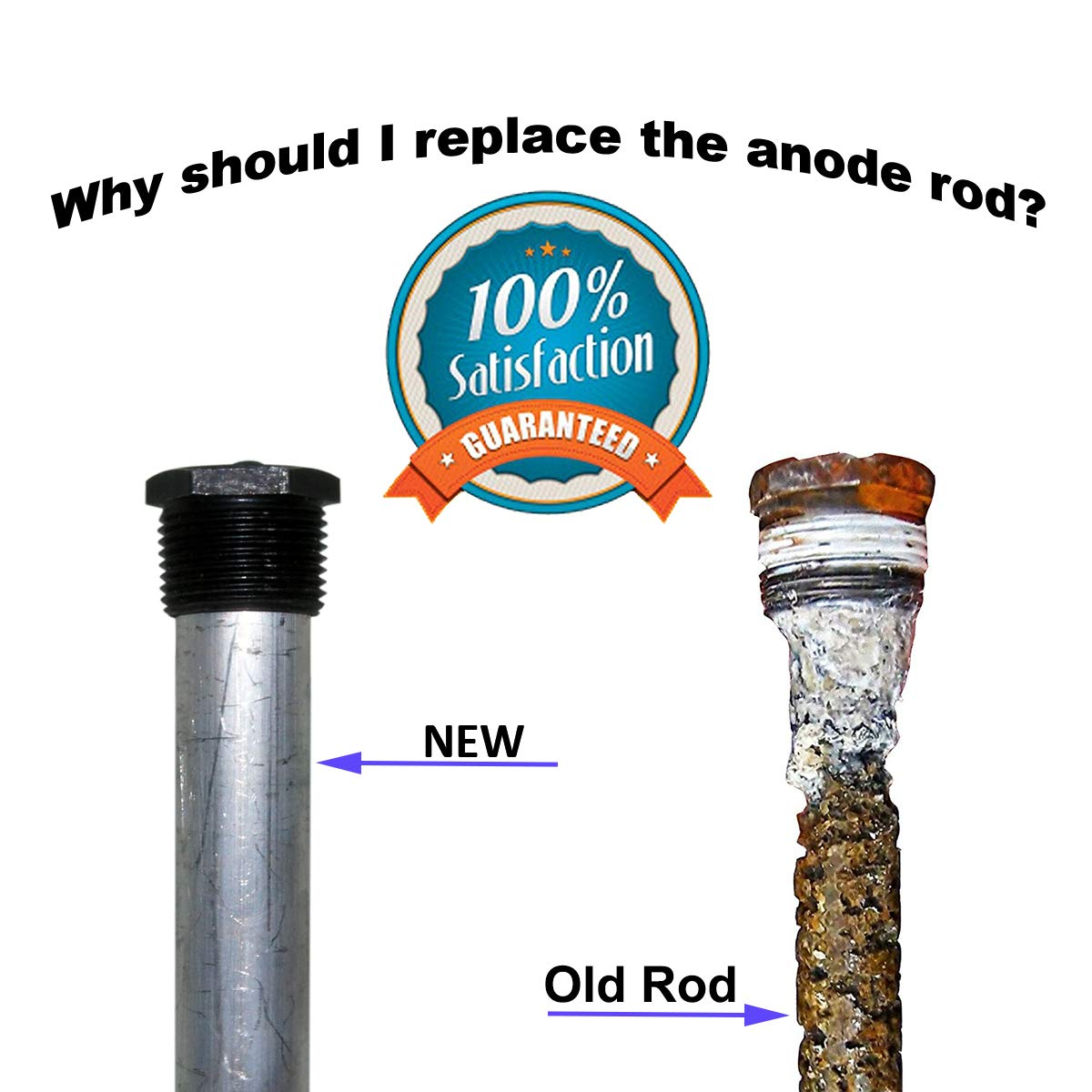 E-SDS Magnesium RV Anode Rod,Water Heater Anode Rod for Suburban and Mor-Flo 6 Gallon