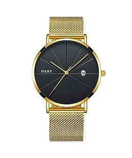 Gentleman's Luxury Clock Generous Slim Steel Minimalist Male Quartz Watch