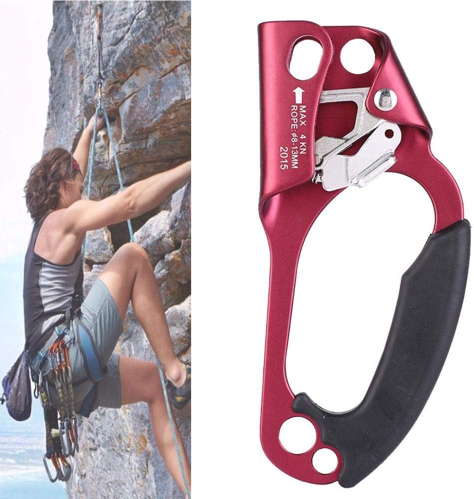 Alomejor Dispositivo Ascendente de Escalada en Roca para Cuerda Ascendente para Cuerda de 8-13 mm