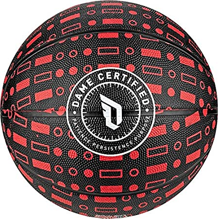adidas Performance Damian Lillard Signature Basketball, Black ...