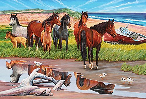 Cobble Hill Sable Island 2000 Piece Horses 2000 Piece Jigsaw Puzzle