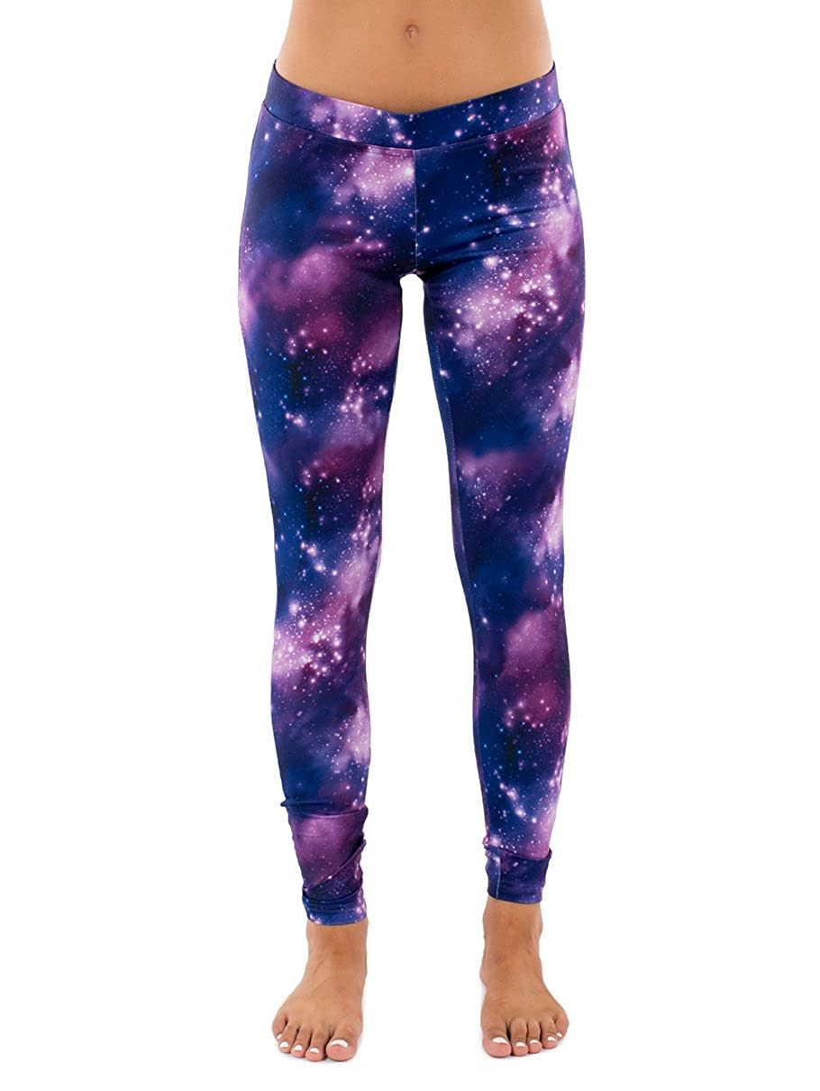 926acbcfdc Tipsy Elves Neon Galaxy Leggings: Large at Amazon Women's Clothing store: