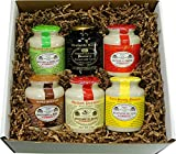 Pommery Mustard 6 Mustard Assortment Meaux Moutarde in Gift Box