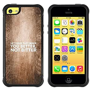 Suave TPU GEL Carcasa Funda Silicona Blando Estuche Caso de protección (para) Apple Iphone 5C / CECELL Phone case / / BIBLE Let Your Past Make You Better /