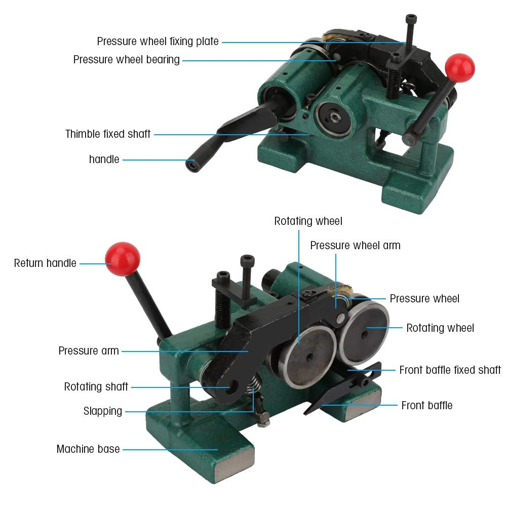 Acogedor Punch Grinder with Pressing Roller, Manual Punch Grinding Machine Precision 5um Punch Grinder,High Precision,Double Roller Design,with Plastic Box by Acogedor (Image #3)
