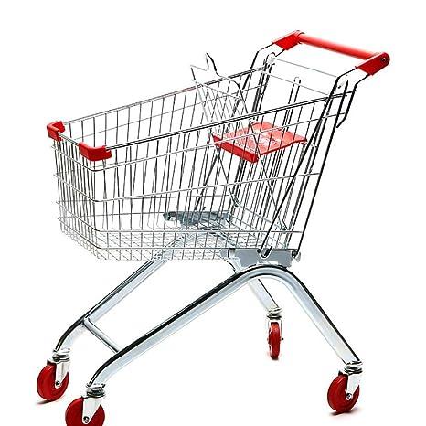 MILAYA JI Bin Shop® Supermercado Carrito De La Compra Almacén KTV Carrito Metal Carrito 60L