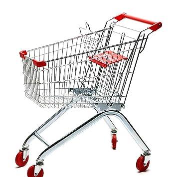 MILAYA JI Bin Shop® Supermercado Carrito De La Compra Almacén KTV Carrito Metal Carrito 60L / 80L / 100L * (Tamaño : 60L): Amazon.es: Hogar