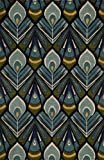 Cheap Momeni Rugs HABITHB-04PEA2030 Habitat Collection, 100% Wool Hand Tufted Transitional Area Rug, 2′ x 3′, Peacock Blue