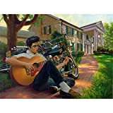 Mazixun 5D DIY Diamond Embroidery Elvis Playing Guitar Full Square Diamond Painting Cross Stitch Rhinestone Mosaic Decoration