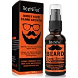 Beard Growth Serum with Biotin & Caffeine – Naturally Powerful, Full, Thick, Masculine Facial Hair Treatment Infused…