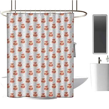 Amazon.com: MKOK cortina de ducha forro, bosque, camino a lo ...