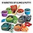 NATIONAL GEOGRAPHIC Mega Slime & Putty Lab - 4 Types of Amazing Slime + 4 Types of Stretchable Putty Including Magnetic Putty, Fluffy Slime & Glow-in-the-Dark Putty