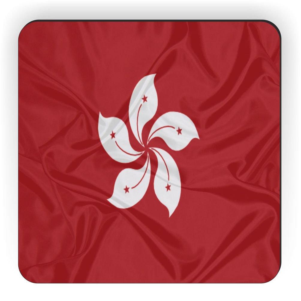 Rikki Knight Hong Kong Flag Design Square Fridge Magnet