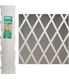 intermas 170102 Celosía de Plástico, Blanco, 25X2X100 cm: Amazon ...