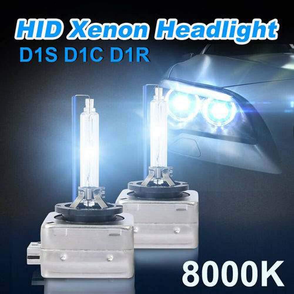 Qnlly 2xD1C D1S D1R 8000K Ice Blue HID Xenon Headlight Light Bulbs Replace Hi/Low Lamp