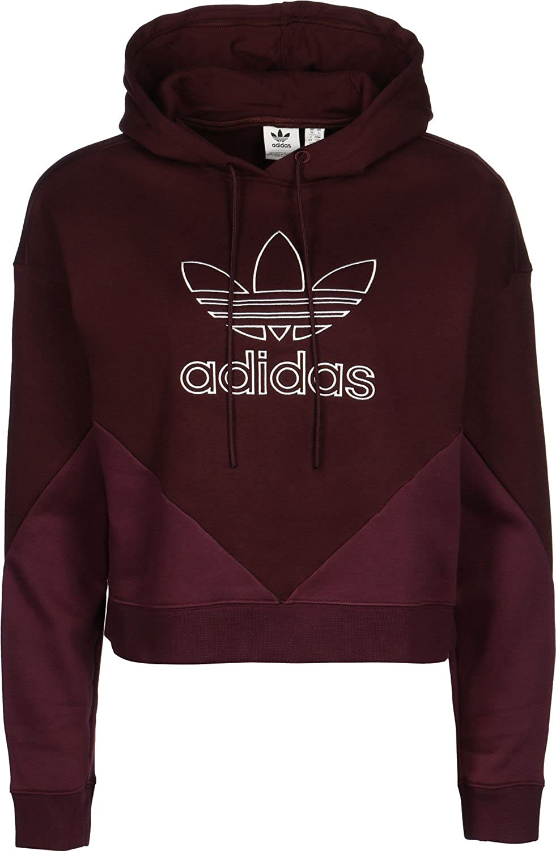 adidas CLRDO W Hoodie maroon: : Bekleidung
