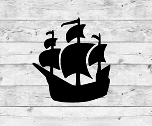 Pirate Ship Blue Holo Vinyl Sticker