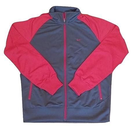 Mens Nike/Taupe chaqueta de chándal rojo (Jkt1) Tamaño grande ...