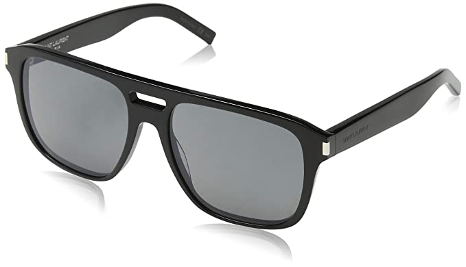 Saint Laurent SL 87 001 Gafas de sol, Negro (BLACK/SMOKE ...