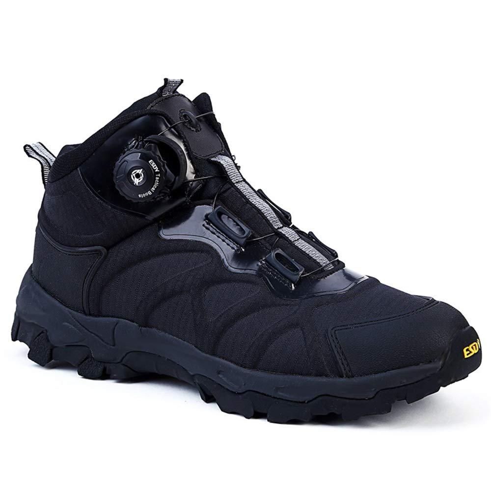 Qiusa Herren Militärstiefel Soft Sohle Durable Atmungsaktive Atmungsaktive Durable Stoßdämpfende Non Slip Schuhe (Farbe   Schwarz, Größe   EU 42) 213165