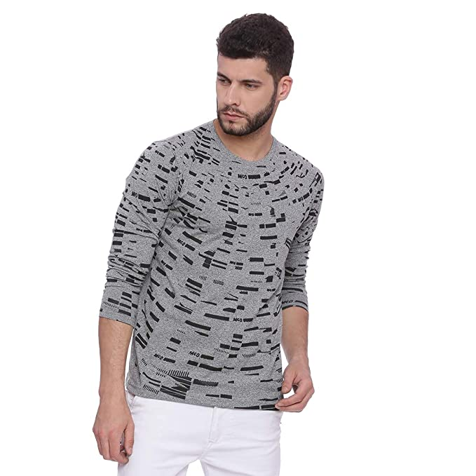 e5492f551 Campus Sutra Men s Cotton Round Neck Full Sleeve T-Shirt  Amazon.in ...
