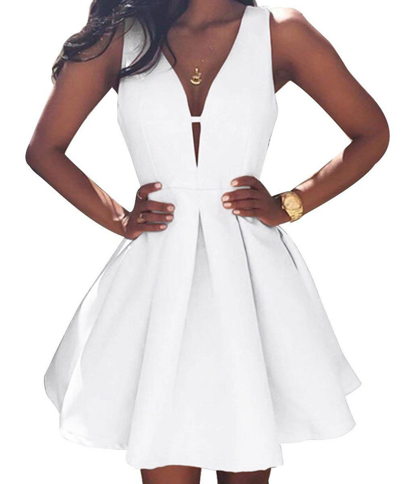 238e515960 Ellenhouse Women s V-Neck Sexy Mini Homecoming Dresses Short Party Gowns