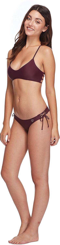 Body Glove Womens Smoothies Alani Solid Strappy Back Halter Bikini Top Swimsuit Body Glove Juniors Swimwear 39-50603