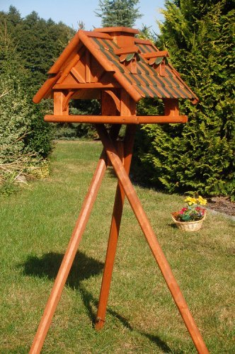 Bird Feeder On A Coated Wood Stand