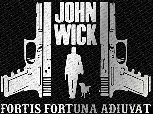 John Wick 2   Fortis Fortuna Adiuvat Die Cut Vinyl Decal Sticker  10   Silver