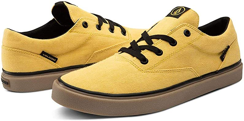 Volcom Mens Draw Lo Canvas Vulcanized Skate Shoe