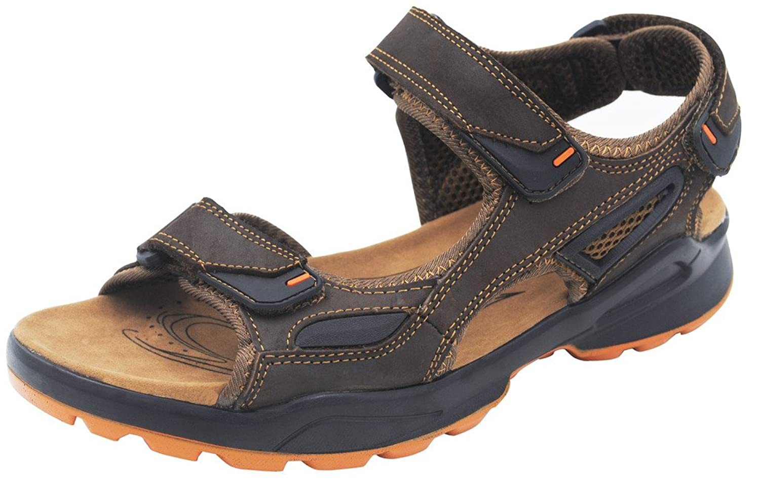 4How Men's Leather Sandals Outdoor Shoes