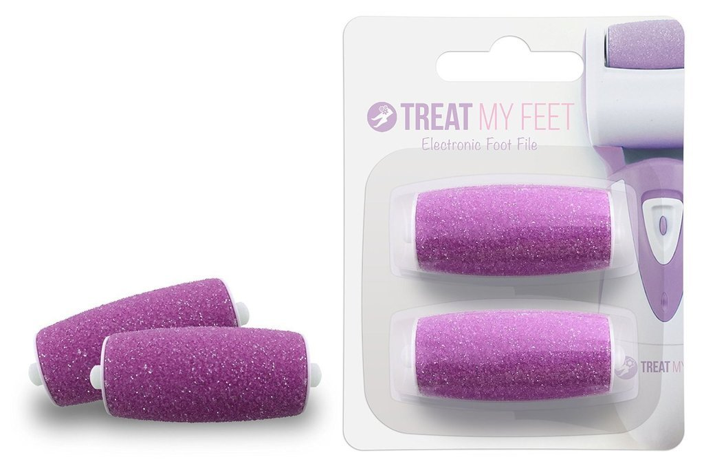 Callus Remover Replacement Rollers Foot: File by Treat My Feet (Pink)