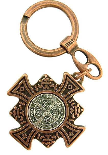 Religious Gifts Bronce y Plata Tono San Benito Cruz de Malta ...