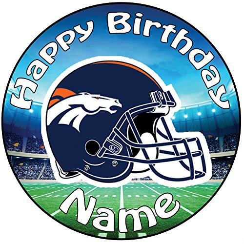 AKGifts Personalised American Football NFL Denver Broncos Icing Cake Topper - 8