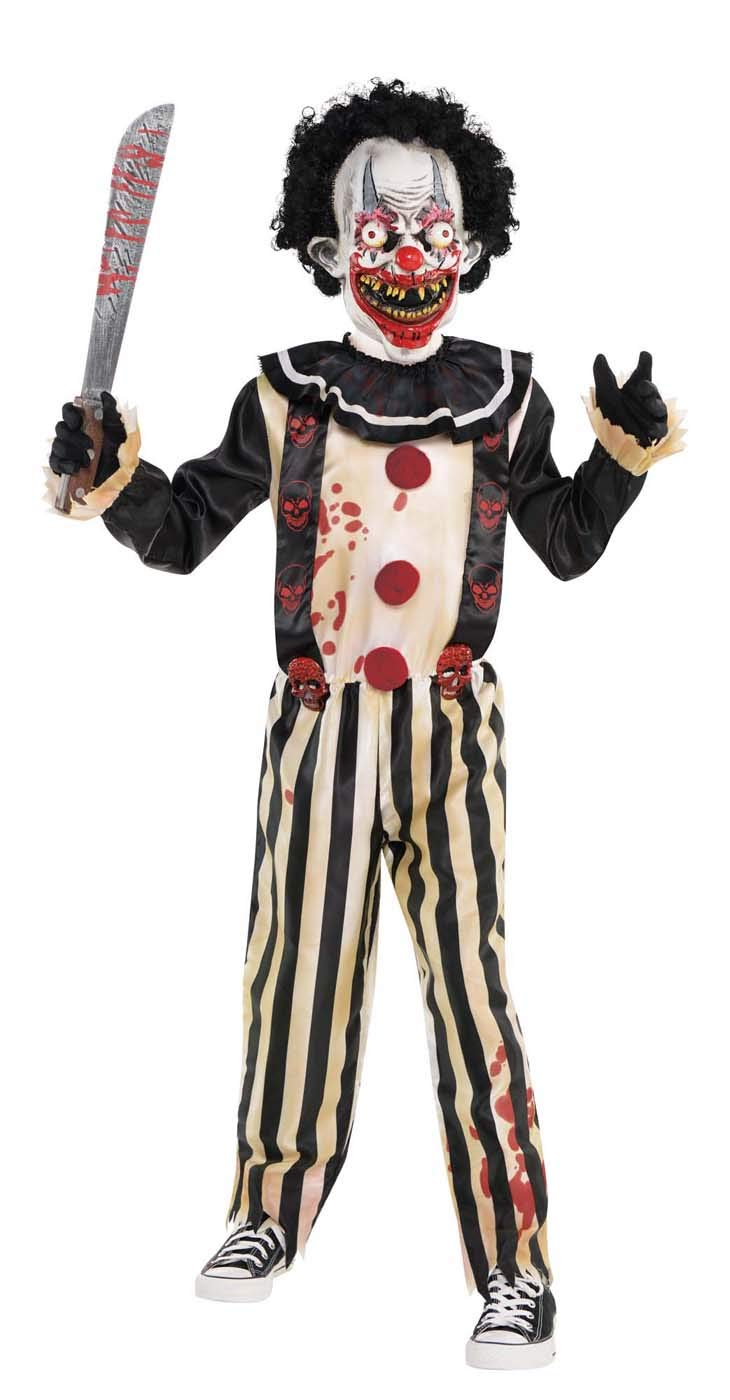 Suit Yourself Slasher Clown Costume for Boys, Size Extra-Large, Includes a Creepy Jumpsuit, a Mask with Hair, and Collar by amscan