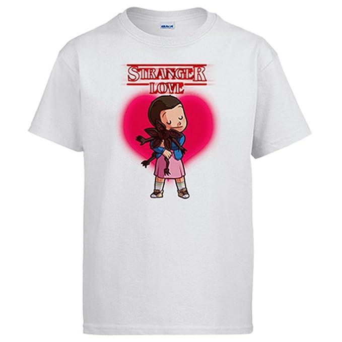 Diver Camisetas Camiseta Stranger Things Love Eleven Demogorgon San Valentín: Amazon.es: Ropa y accesorios