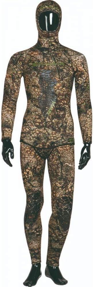 SalviMar ウェットスーツ 5.5mm クリプシス カモフラージュ ネオプレン スピアフィッシング ハンティング ダイブ 迷彩 ツーピーススーツ  Medium